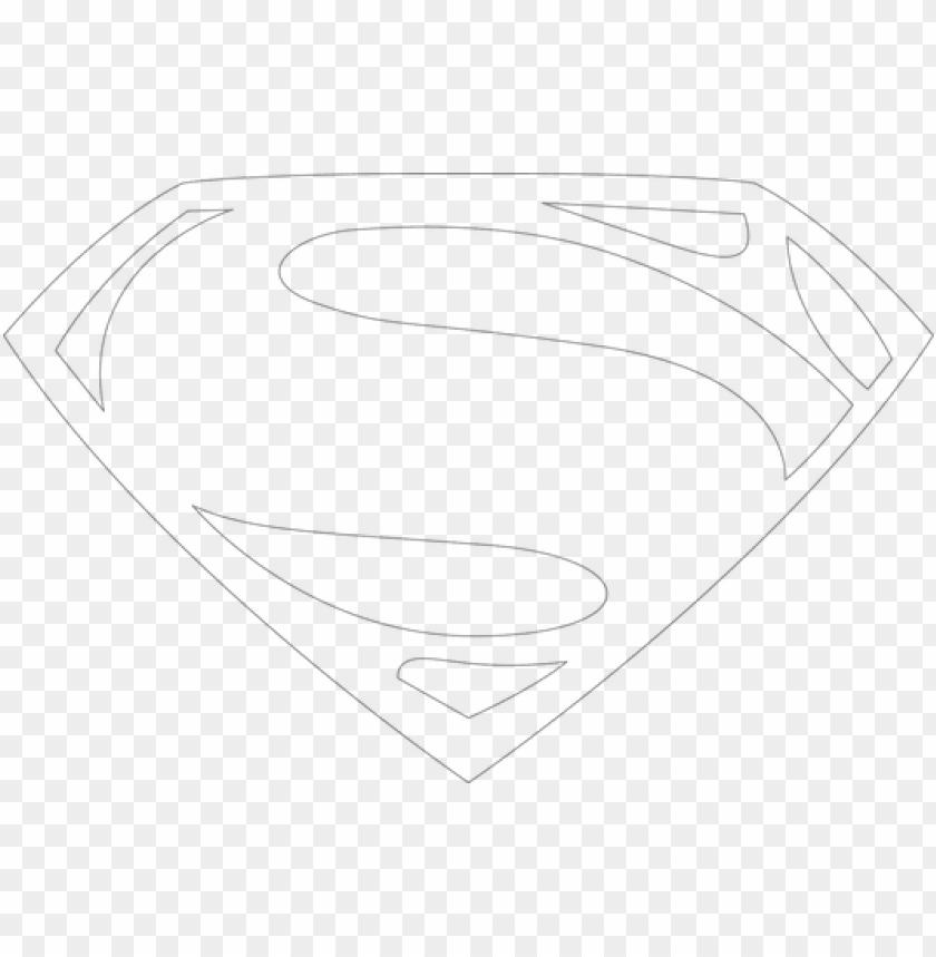 free PNG superman man of steel logo - superman logo man of steel outline PNG image with transparent background PNG images transparent