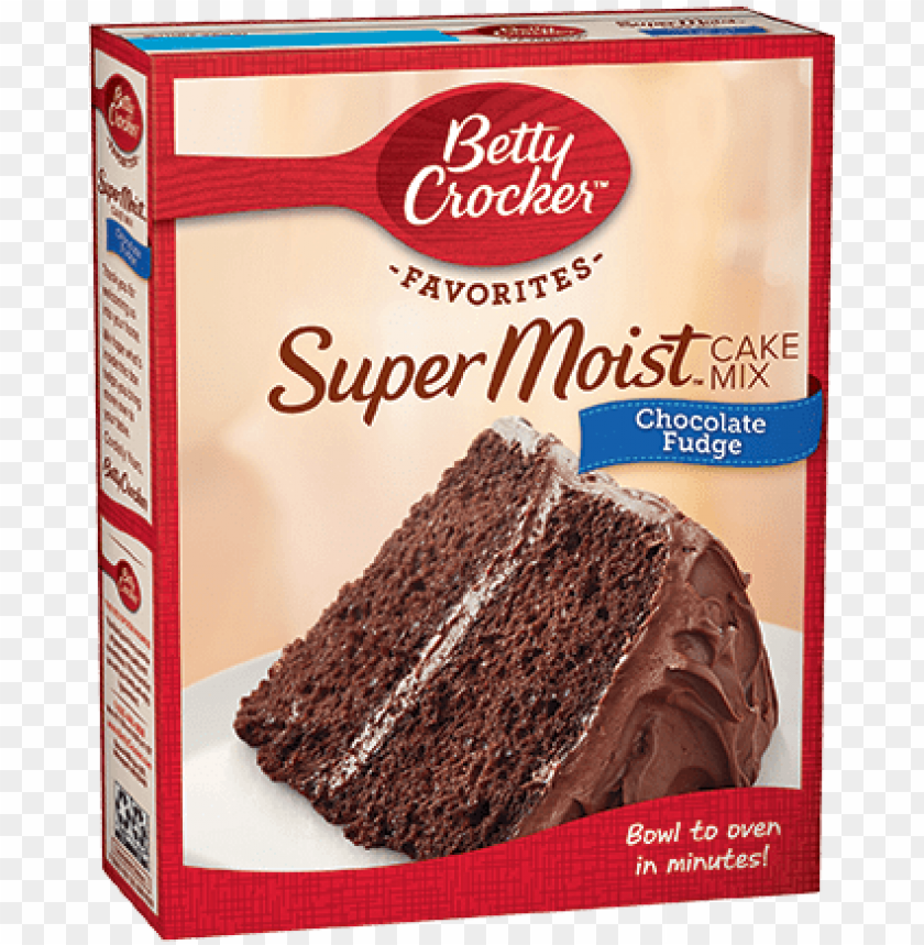 free PNG supermoist® chocolate fudge cake mix - betty crocker chocolate cake mix PNG image with transparent background PNG images transparent