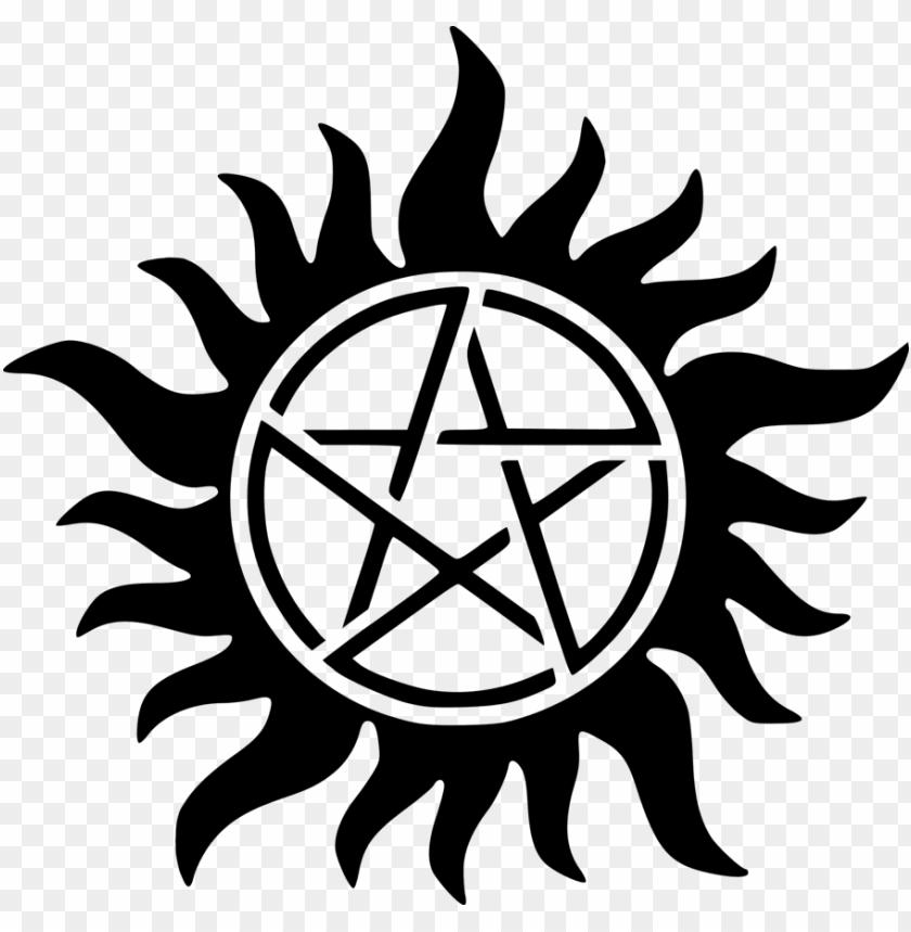 free PNG supernatural symbol png - supernatural anti possession symbol PNG image with transparent background PNG images transparent