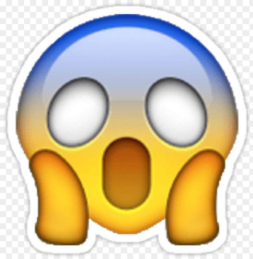 free PNG surprised emoji shocked/scared emoji sticker - gasping emoji PNG image with transparent background PNG images transparent