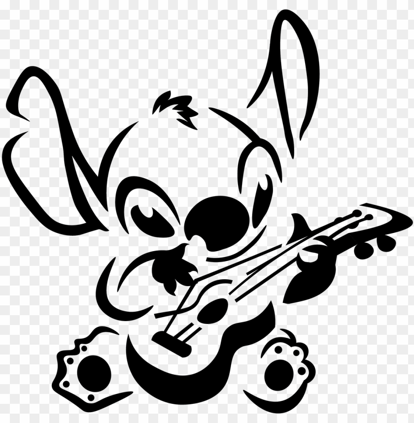 free PNG svg black and white stock a lilo and stitch birthday - lilo and stitch stencil PNG image with transparent background PNG images transparent