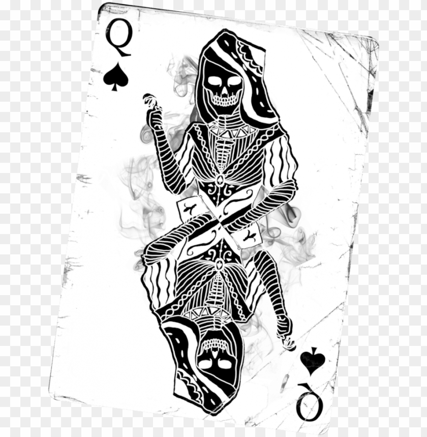 free PNG svg free stock card drawing queen - queen of spades death card PNG image with transparent background PNG images transparent