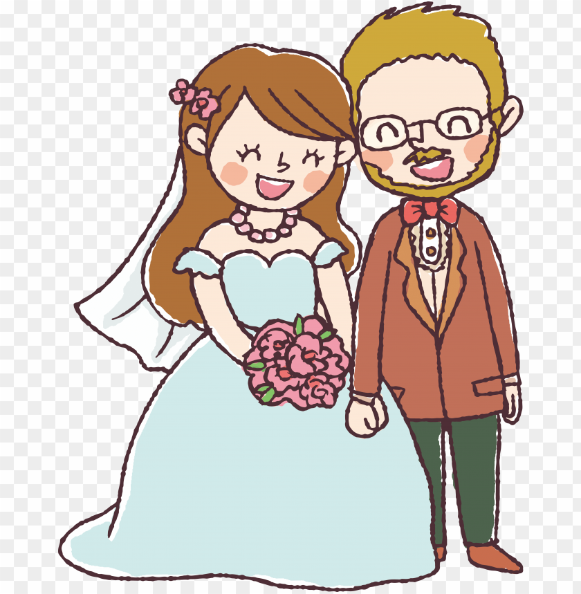free PNG svg free stock wedding invitation couple character - marriage drawi PNG image with transparent background PNG images transparent