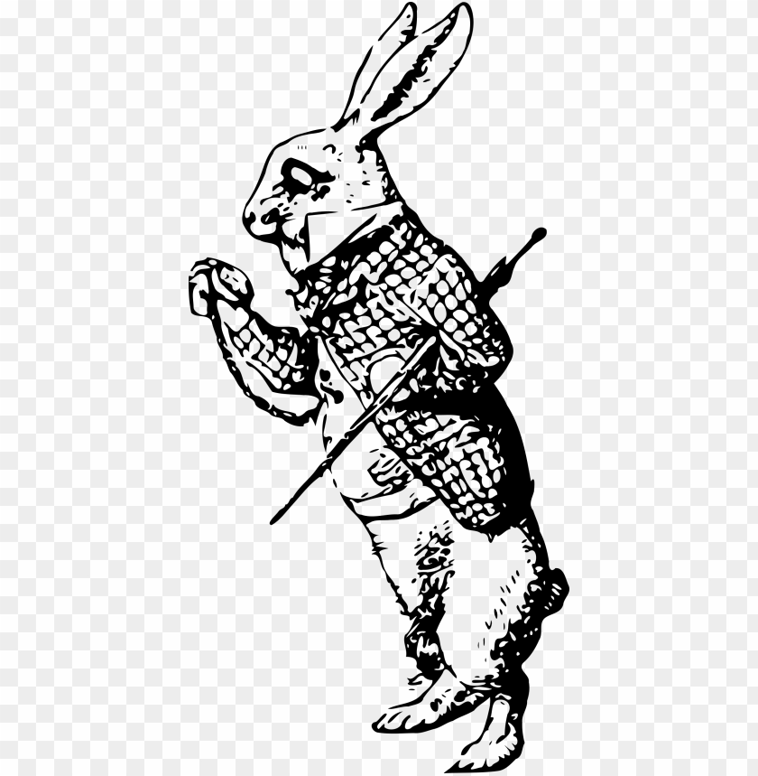 free PNG svg freeuse library white rabbit alice in wonderland - white rabbit alice in wonderland outline PNG image with transparent background PNG images transparent