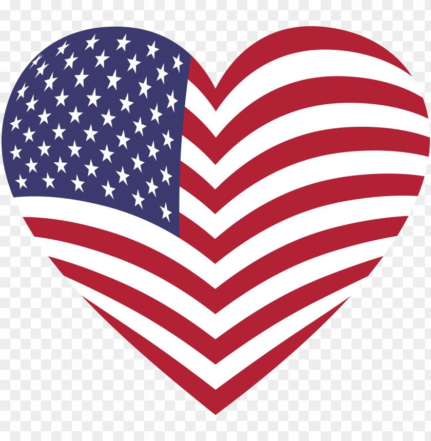 free PNG svg heart american flag - american flag heart PNG image with transparent background PNG images transparent