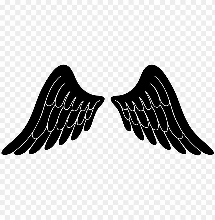 free PNG svg transparent stock angel clip art free of wings - black angel wings clip art PNG image with transparent background PNG images transparent