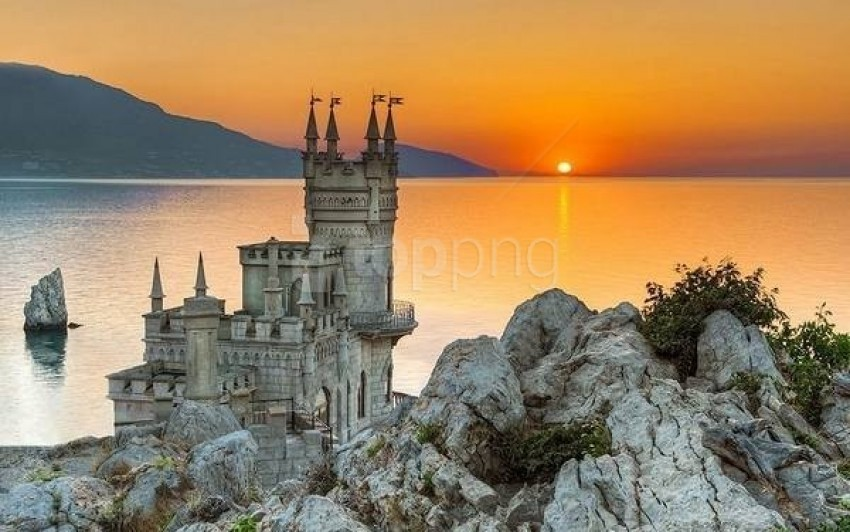 free PNG swallows nest castle ukraine wallpaper background best stock photos PNG images transparent