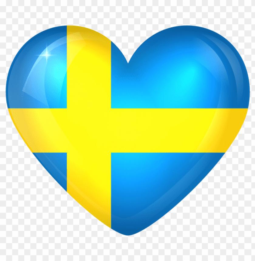 free PNG Download sweden large heart flag clipart png photo   PNG images transparent