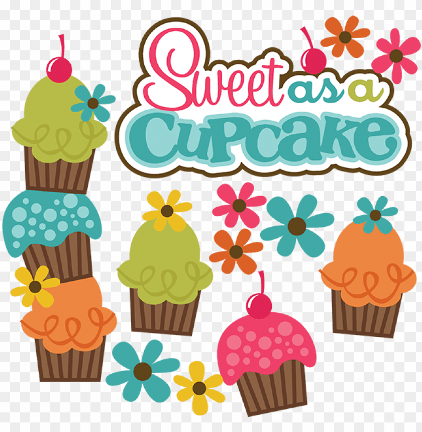 free PNG sweet as a cupcake svg cute svg files for scrapbooking - sweet as a cupcake PNG image with transparent background PNG images transparent