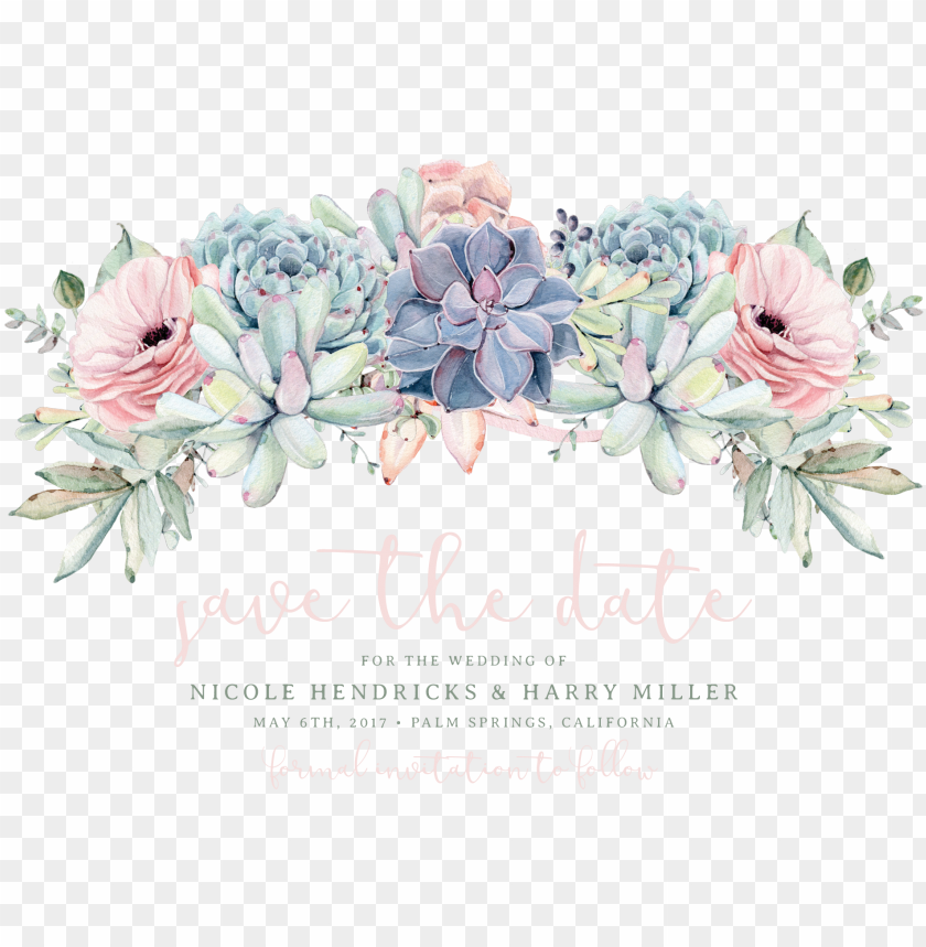 free PNG sweet succulents save the date rose savethedateweddingideas - save the date png flores PNG image with transparent background PNG images transparent