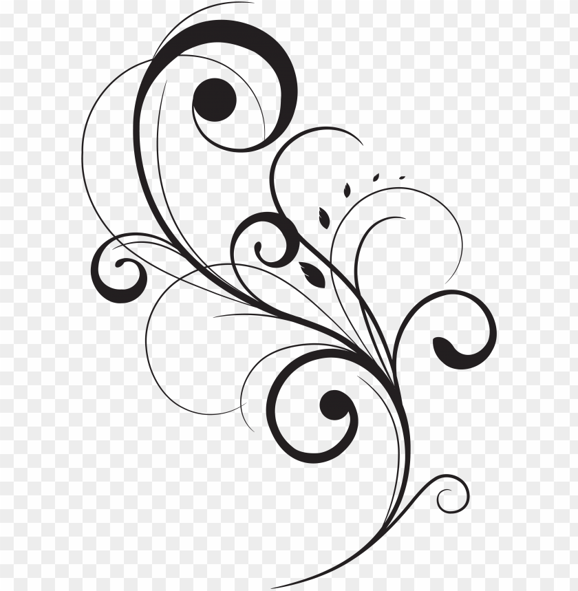 free PNG swirl drawing stencil huge freebie download for powerpoint - vector floral flourish PNG image with transparent background PNG images transparent