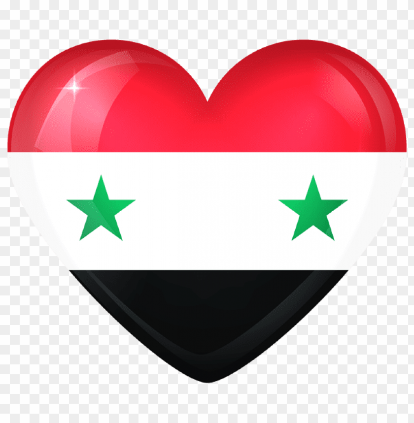 free PNG Download syria large heart flag clipart png photo   PNG images transparent