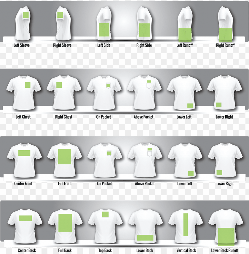 T Shirt Printing Sizes Png Image With