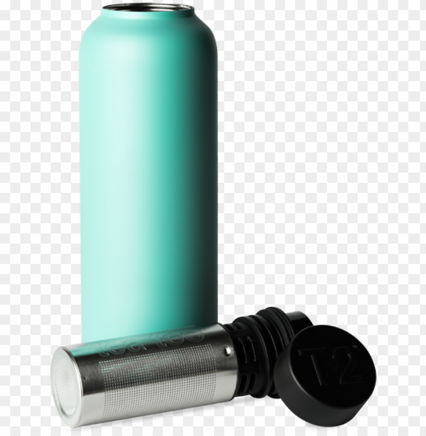 free PNG t2 stainless steel flask aqua - t2 stainless steel flask black 35ea PNG image with transparent background PNG images transparent