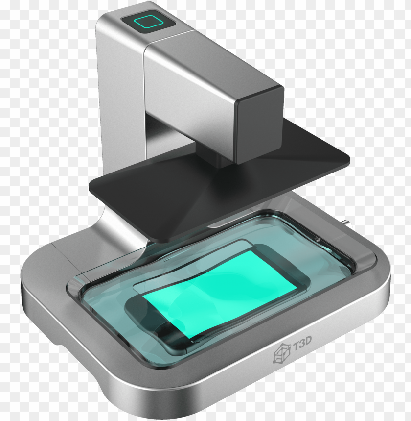 free PNG t3d's mobile phone-activated sla 3d printer - sla 3d printer smart phone PNG image with transparent background PNG images transparent