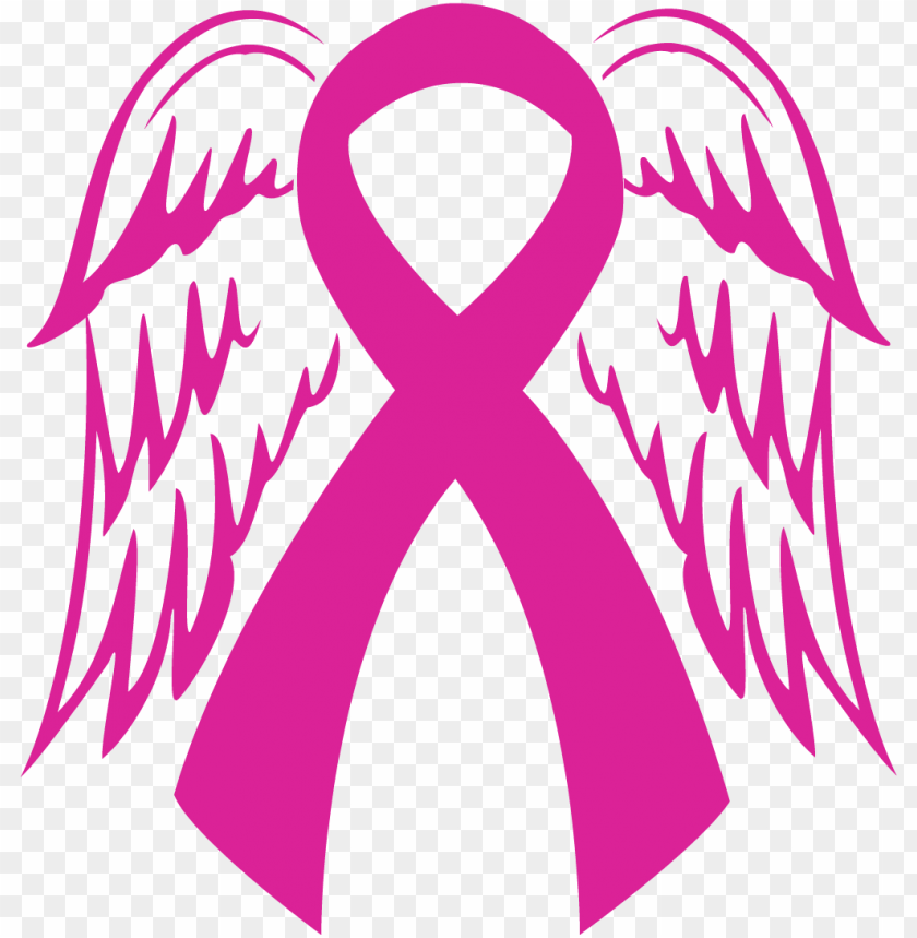 Ta Ta Rebels Inc Angel Wing Breast Cancer Ribbo Png Image With Transparent Background Toppng