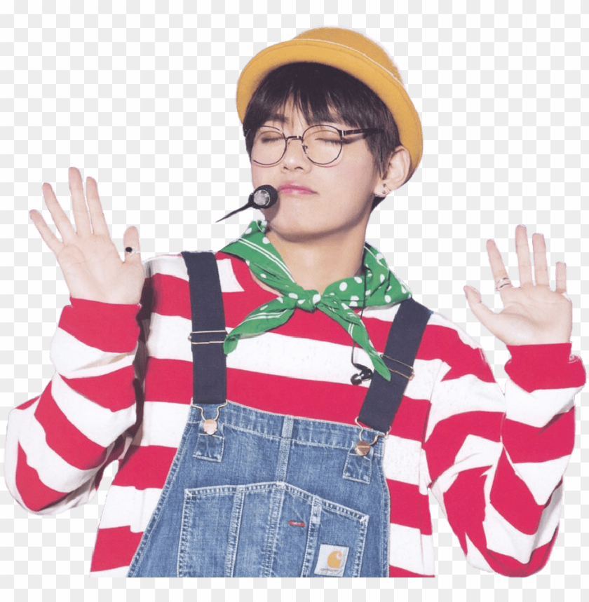 free PNG tae sticker from my most recent edit tae v bts sticker - bts v transparent stickers PNG image with transparent background PNG images transparent