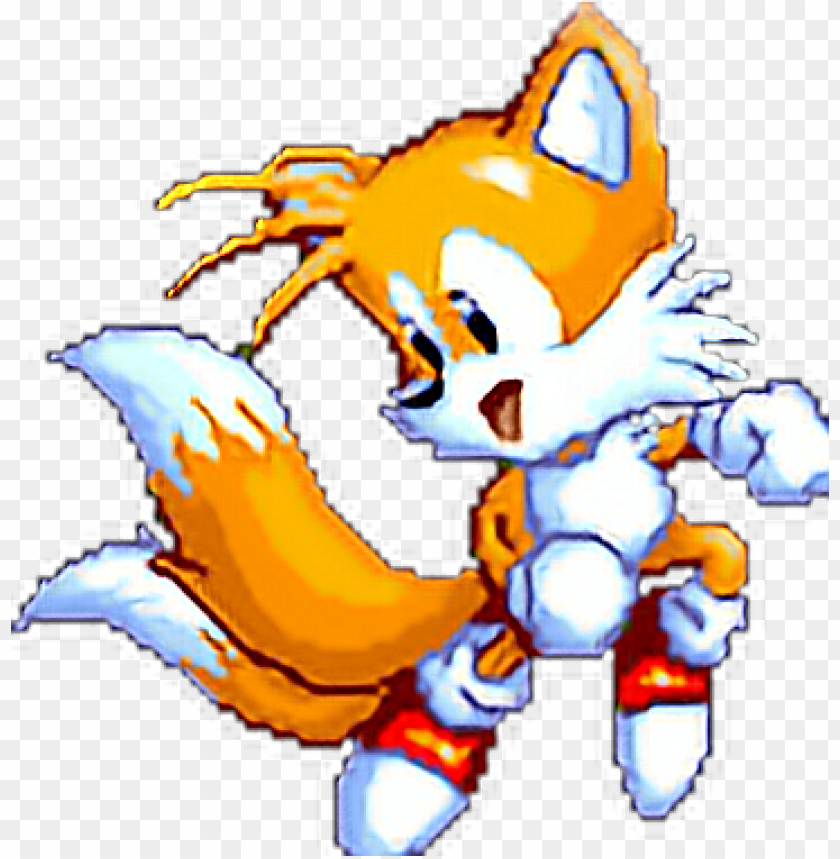free PNG tails sonic sega genesis sprite pixel 90s cute fox - tails the fox gif PNG image with transparent background PNG images transparent