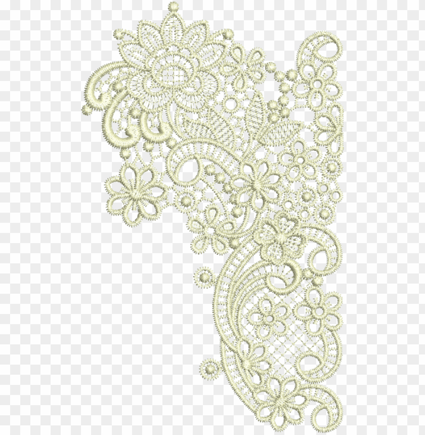 taj border end mirror embroidery design from www - lace corner transparent  white png image with transparent background | toppng  toppng