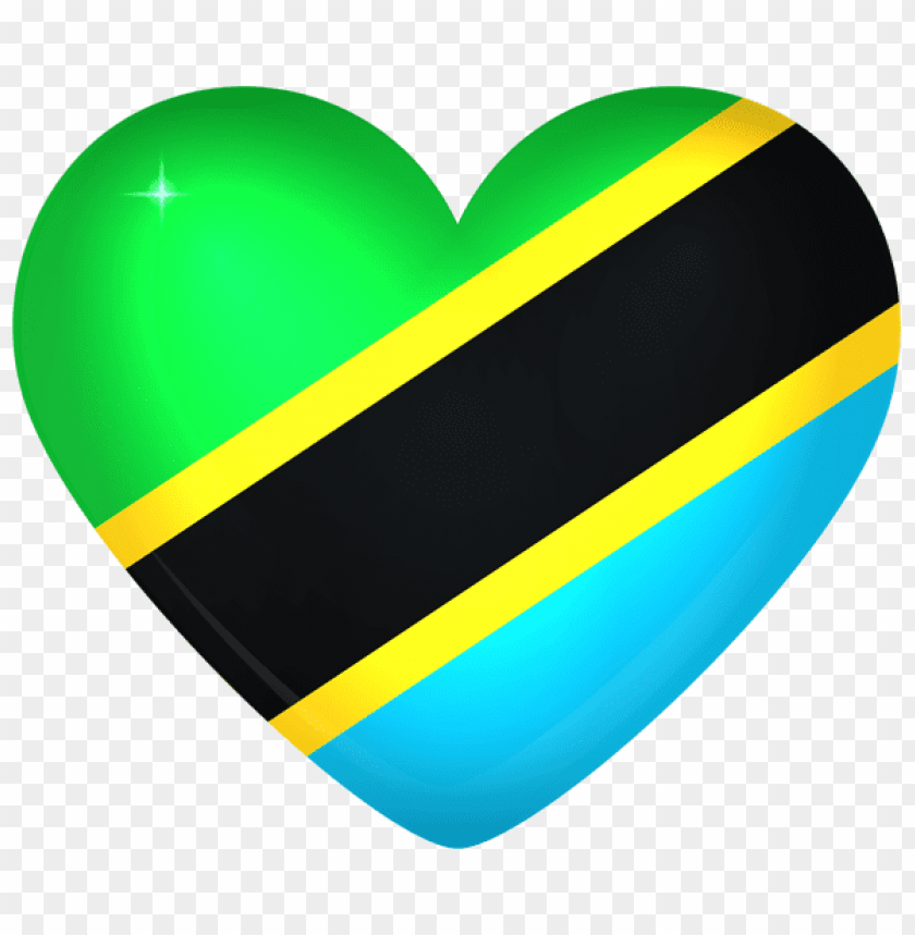 free PNG Download tanzania large heart flag clipart png photo   PNG images transparent
