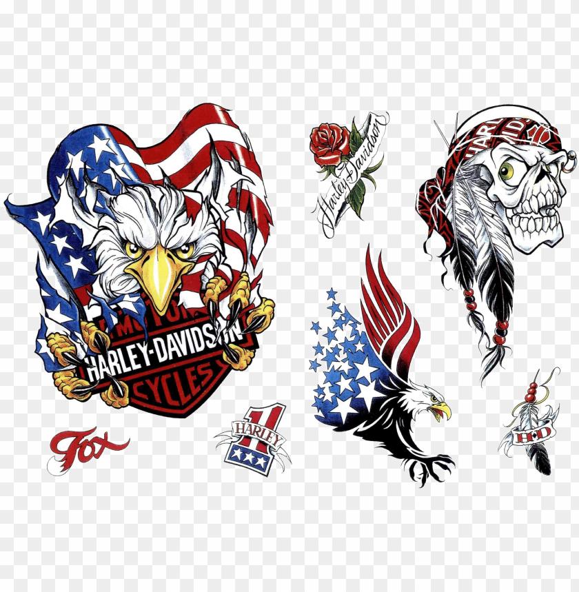free PNG tattoo eagle harley-davidson american snake desert - harley davidson eagle tattoo designs PNG image with transparent background PNG images transparent
