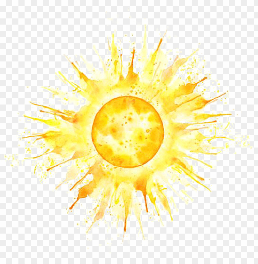 free PNG tattoo sun illustration watercolor mehndi painting - yellow watercolor sun tattoo PNG image with transparent background PNG images transparent