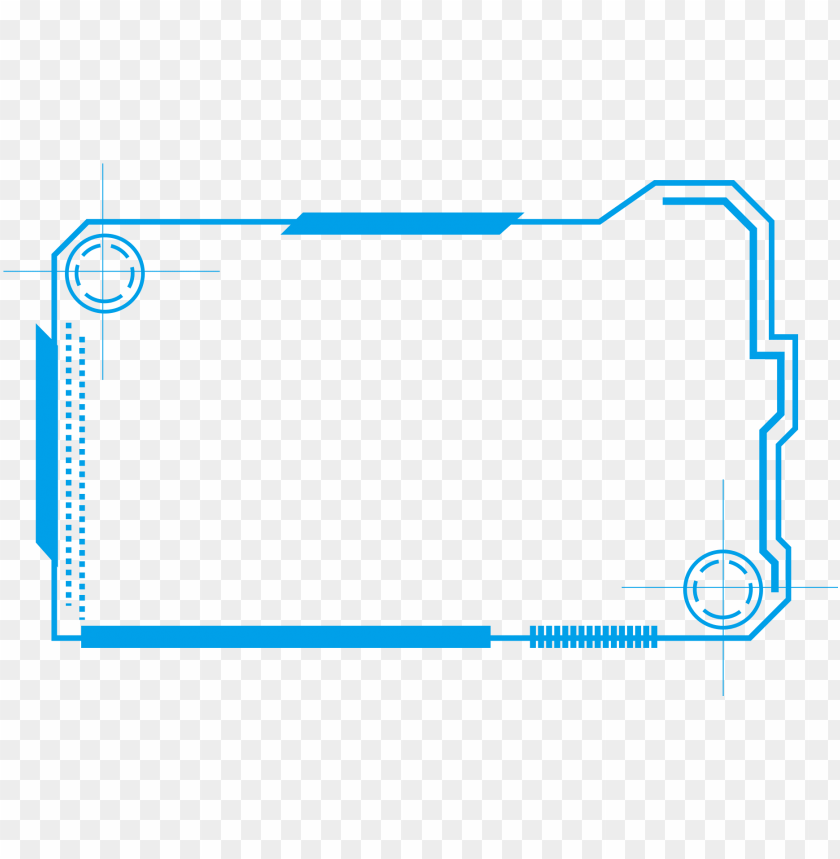 border lines png tech border blue simple lines png and psd - high tech