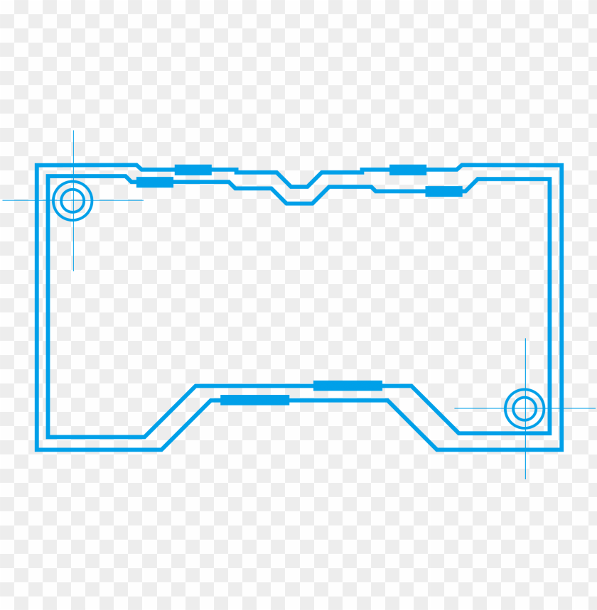 border lines png technology border blue simple lines png and psd - diagram