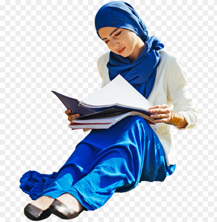 free PNG teenager woman student sitting, arab ethnic fashion - people cut out studyi PNG image with transparent background PNG images transparent