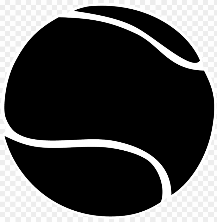 free PNG tennis ball clipart black and white - tennis ball black and white PNG image with transparent background PNG images transparent