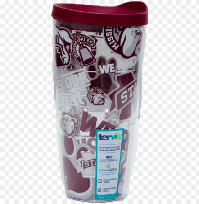 free PNG tervis 24oz mississippi state all over logos tumbler - mississippi state bulldogs and lady bulldogs PNG image with transparent background PNG images transparent