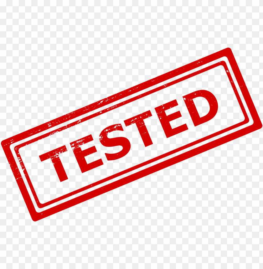 Tested Stamp png - Free PNG Images@toppng.com