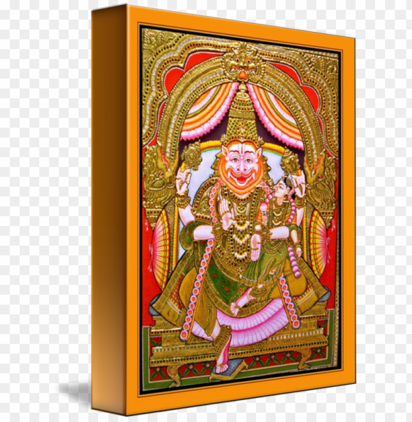 free PNG thanjavur painting art hinduism transprent png - indian lion gods PNG image with transparent background PNG images transparent