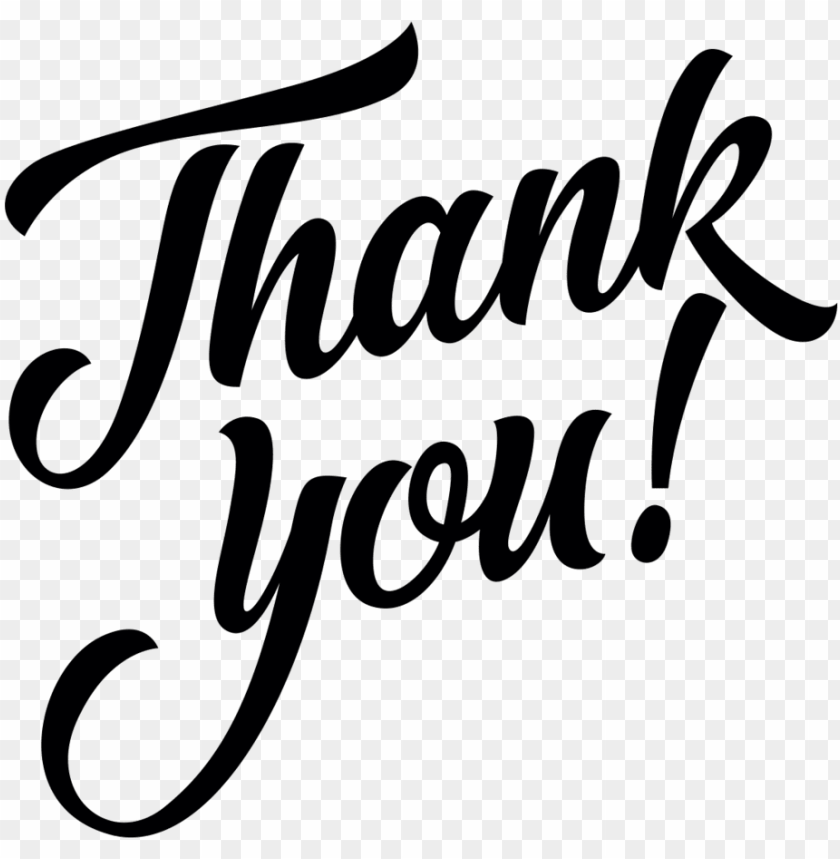 Thank You Calligraphy Png Image With Transparent Background Toppng