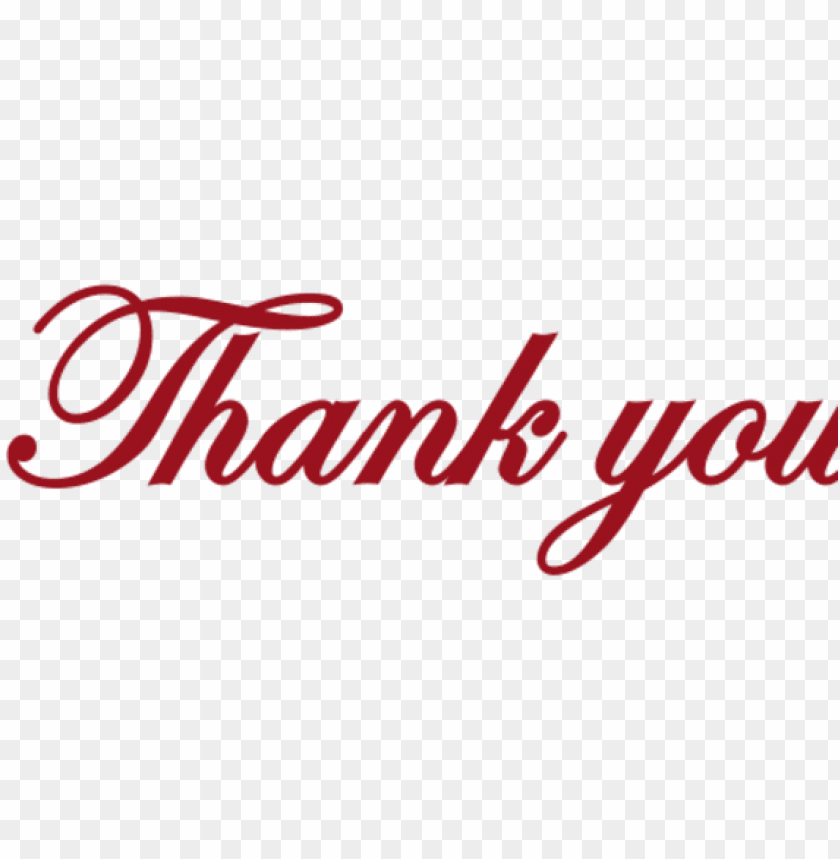 free PNG thank you millerton school - thank you red PNG image with transparent background PNG images transparent