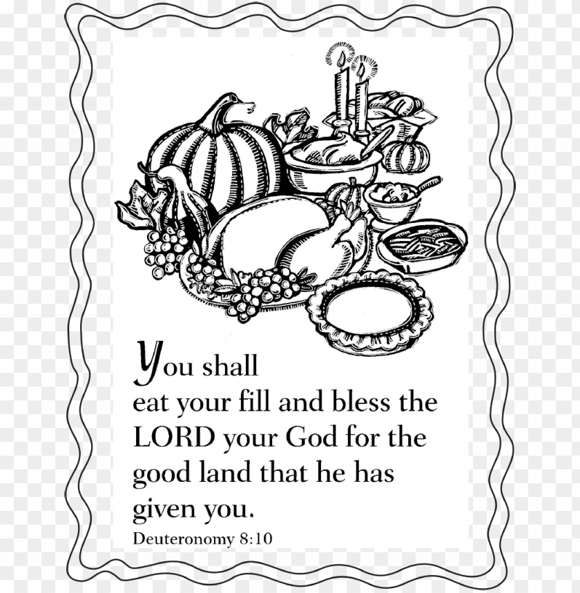 Thanksgiving Bible Coloring Sheet Png Image With Transparent