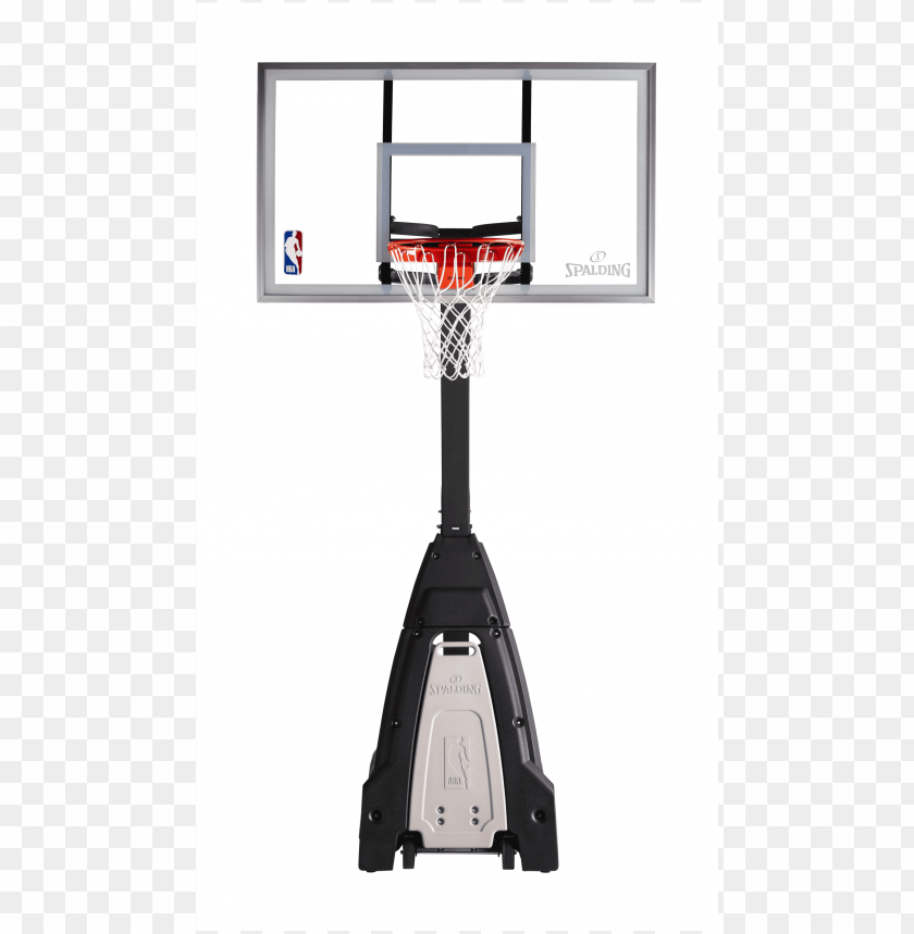 """free PNG the beast® 60"""" glass portable basketball hoop system - spalding """"the beast"""" glass portable basketball hoo PNG image with transparent background PNG images transparent"""