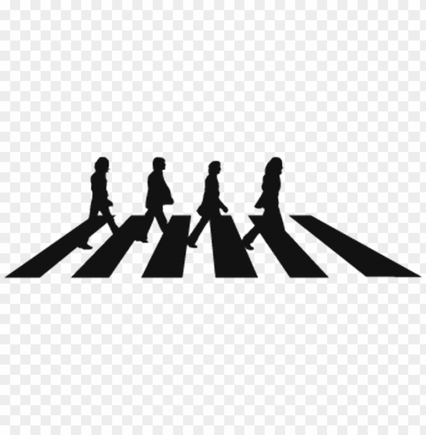 free PNG the beatles abbey road png - beatles abbey road black and white PNG image with transparent background PNG images transparent