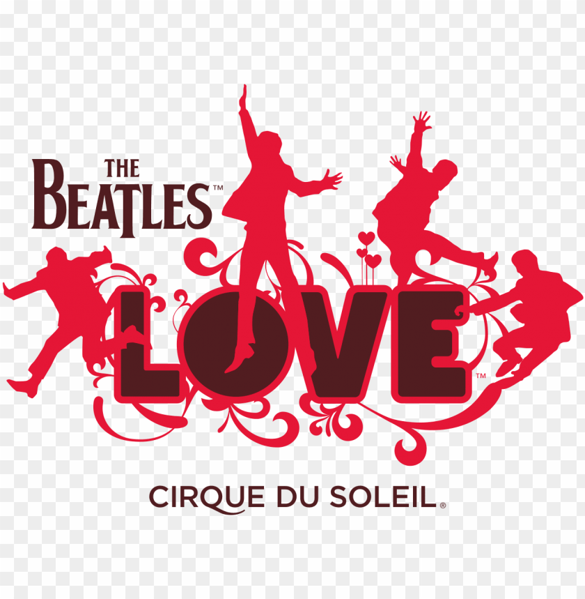 free PNG the beatles logo transparent png sticker - las vegas beatles love PNG image with transparent background PNG images transparent