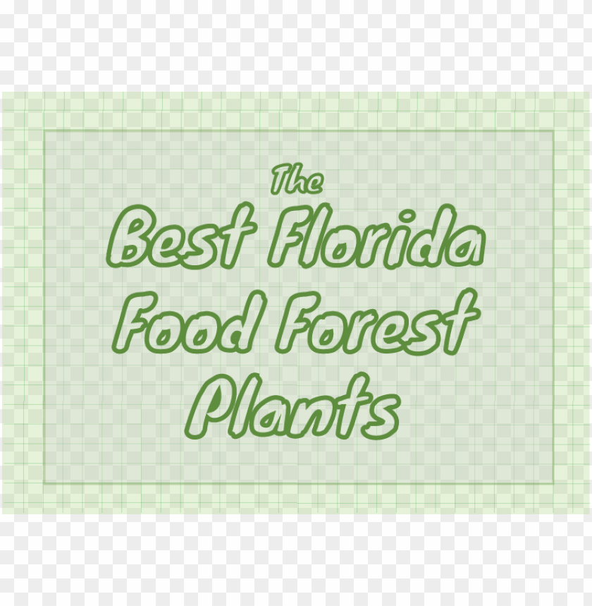 free PNG the best florida food forest plants - handwriti PNG image with transparent background PNG images transparent