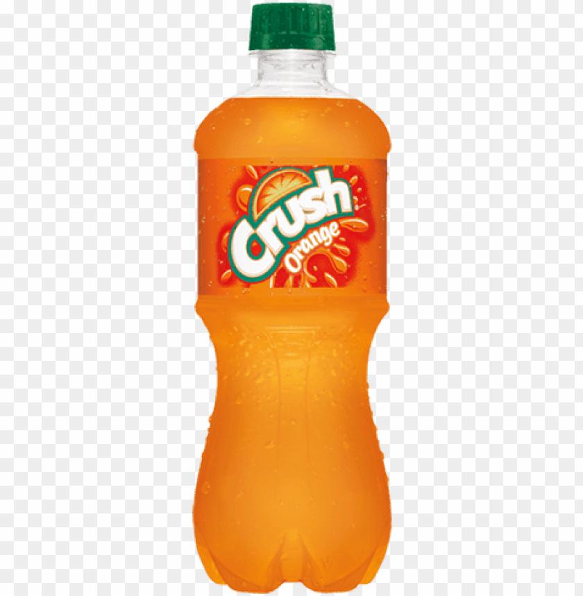 free PNG the best orange soda - crush orange soda - 20 fl oz bottle PNG image with transparent background PNG images transparent