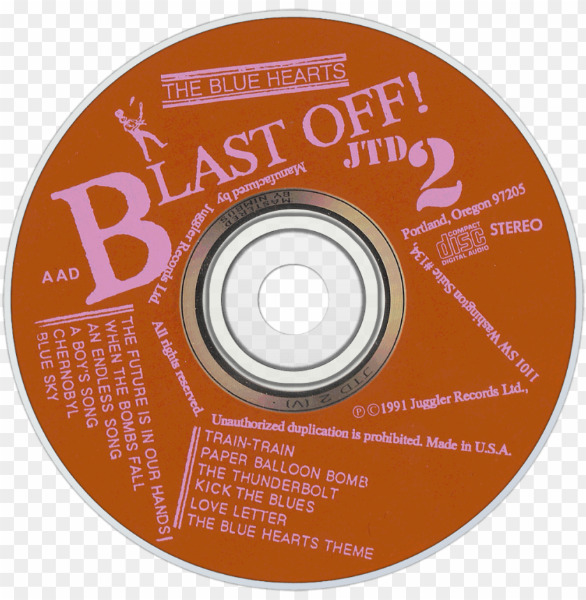 free PNG the blue hearts blast off cd disc image - cd PNG image with transparent background PNG images transparent