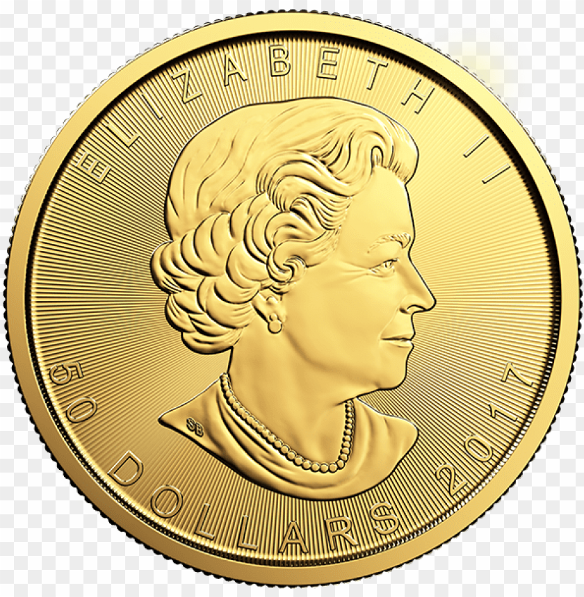 free PNG the design of the gold canadian maple leaf coin is - maple leaf 1 4 oz gold PNG image with transparent background PNG images transparent