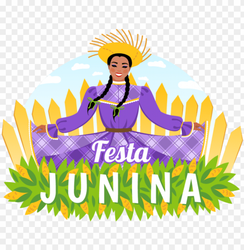 the design of the poster of the festa junina with a - illustratio PNG image with transparent background@toppng.com