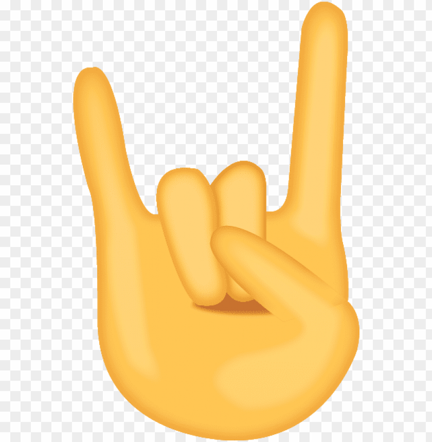 free PNG the devil horn rock and roll emoji hand will send the - rock on emoji PNG image with transparent background PNG images transparent
