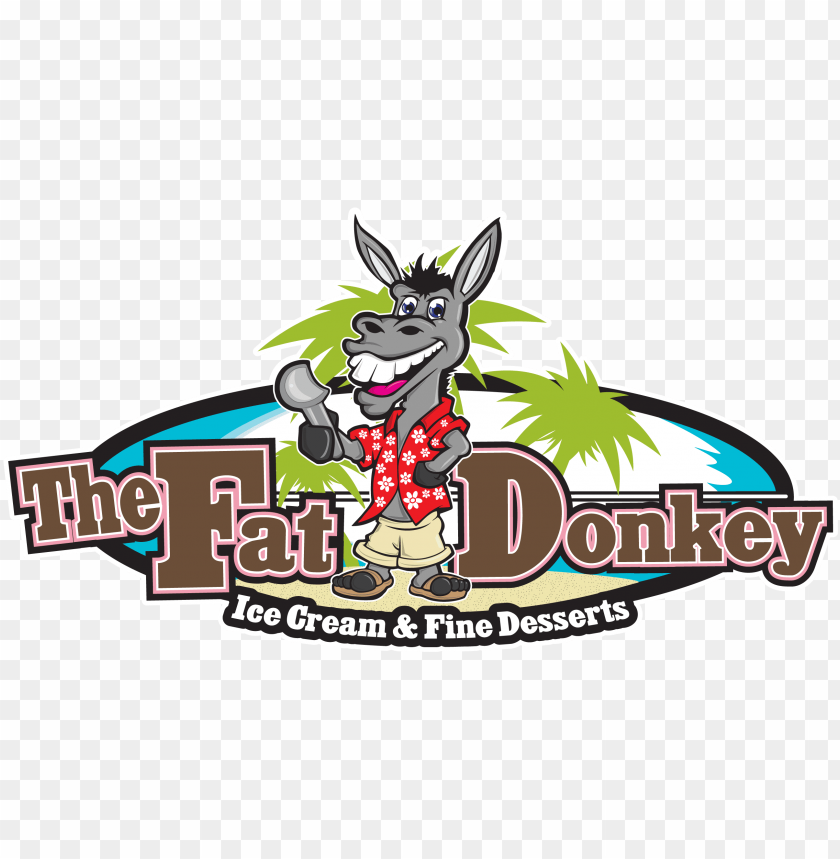 free PNG the fat donkey ice cream and fine desserts PNG image with transparent background PNG images transparent