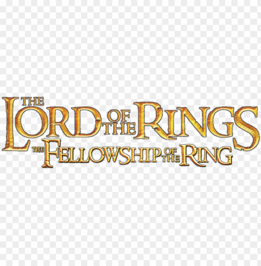 the fellowship of the ring movie png logo lord of the rings logo png image with transparent background toppng ring movie png logo lord