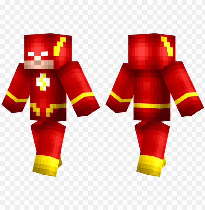 free PNG the flash - skin minecraft super herois PNG image with transparent background PNG images transparent