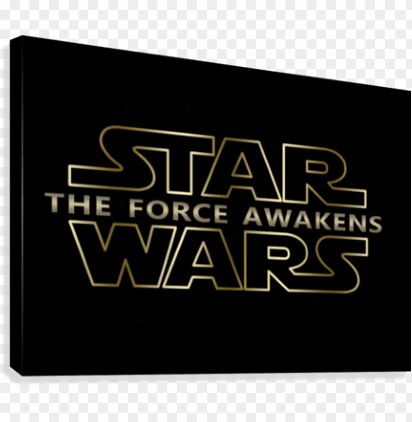 free PNG the force awakens new star wars series typography canvas - star wars PNG image with transparent background PNG images transparent