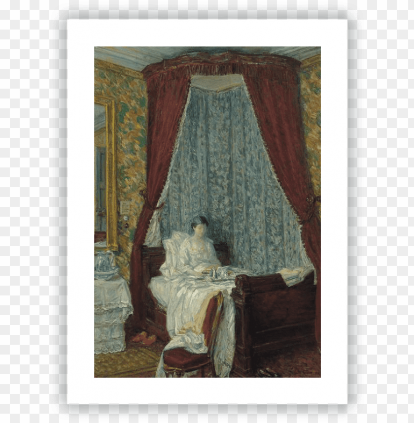 free PNG the french breakfast - giclee painting: hassam's the french breakfast, 1910, PNG image with transparent background PNG images transparent